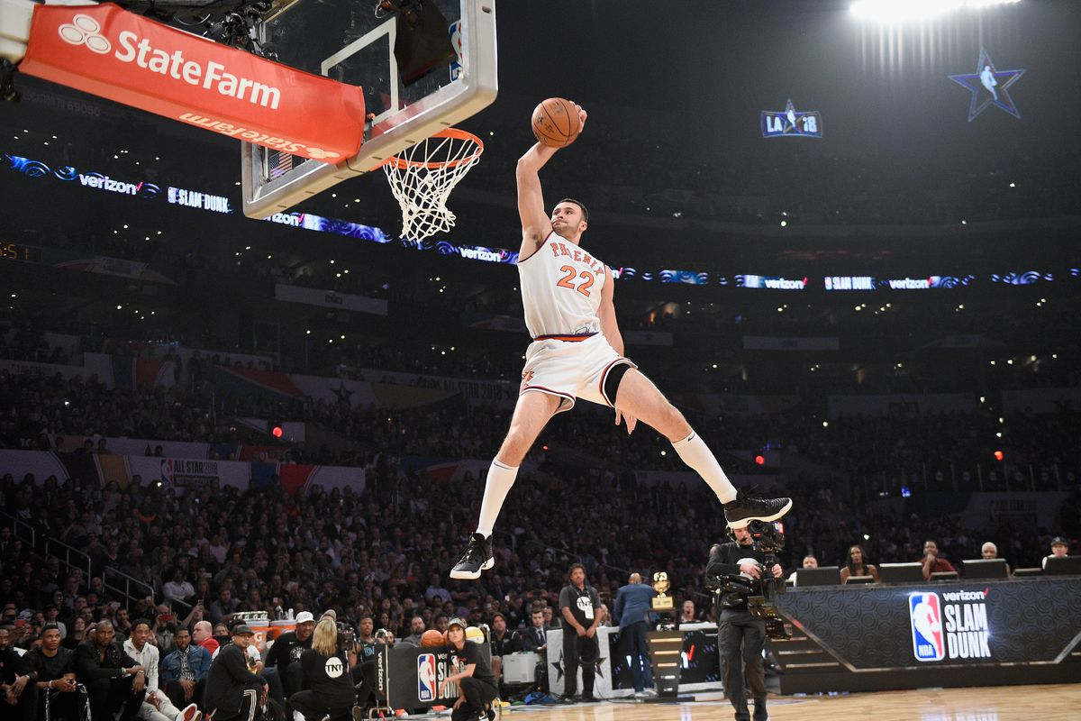 Photo by Kevork Djansezian Getty Images. The 2018 NBA Slam Dunk Contest ... 2b167876d