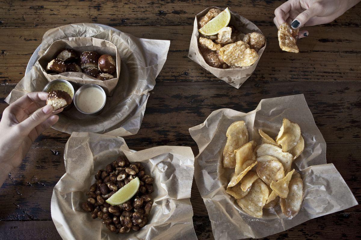 Fancy bar snacks and vegetarian fare await at Blatt Beer & Table.