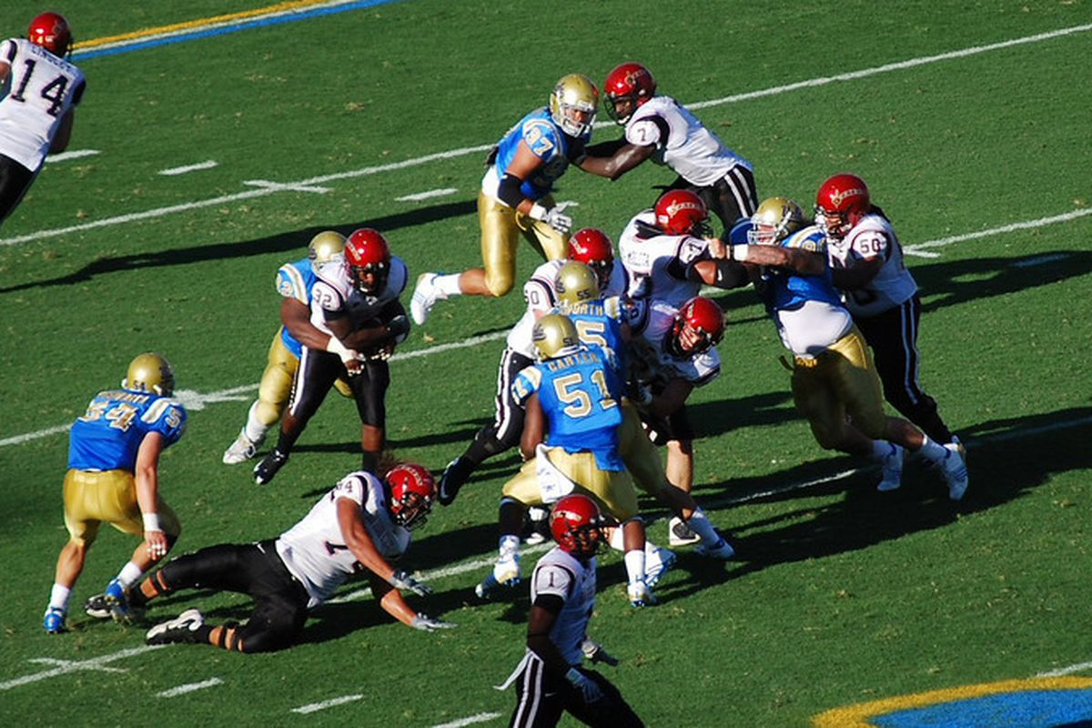 <em>Here is to Brian Price hanging out in the backfield. Photo Credit: Telemachus</em>