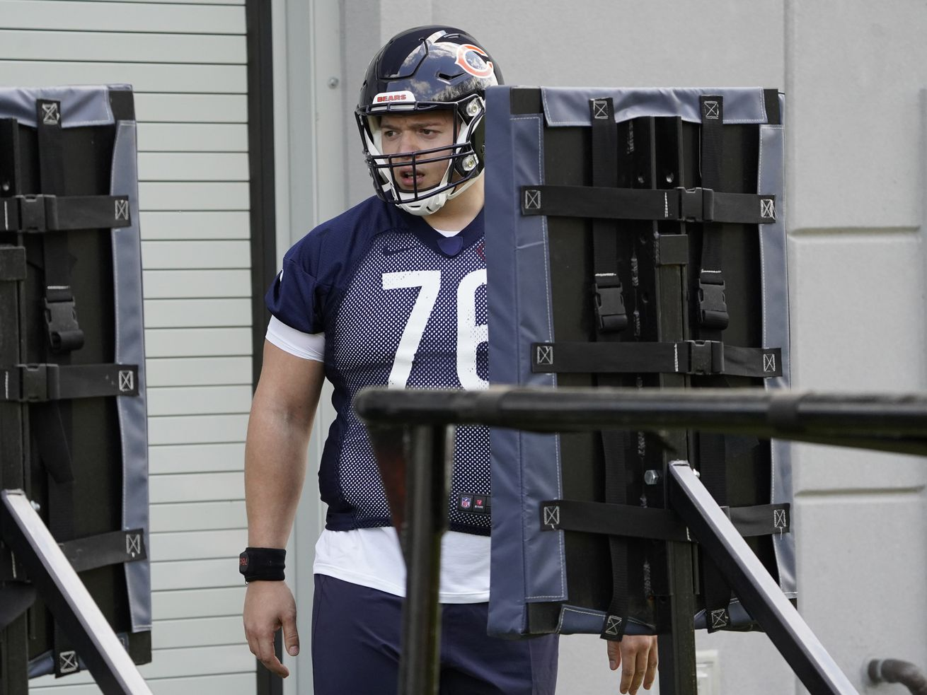 Bears rookie offensive tackle Teven Jenkins, a second-round pick from Oklahoma State, is pegged as the starter at left tackle this season.