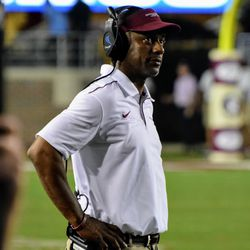 """Willie Taggart listing to """"The review of the review is under further review and maybe not under review after all."""""""