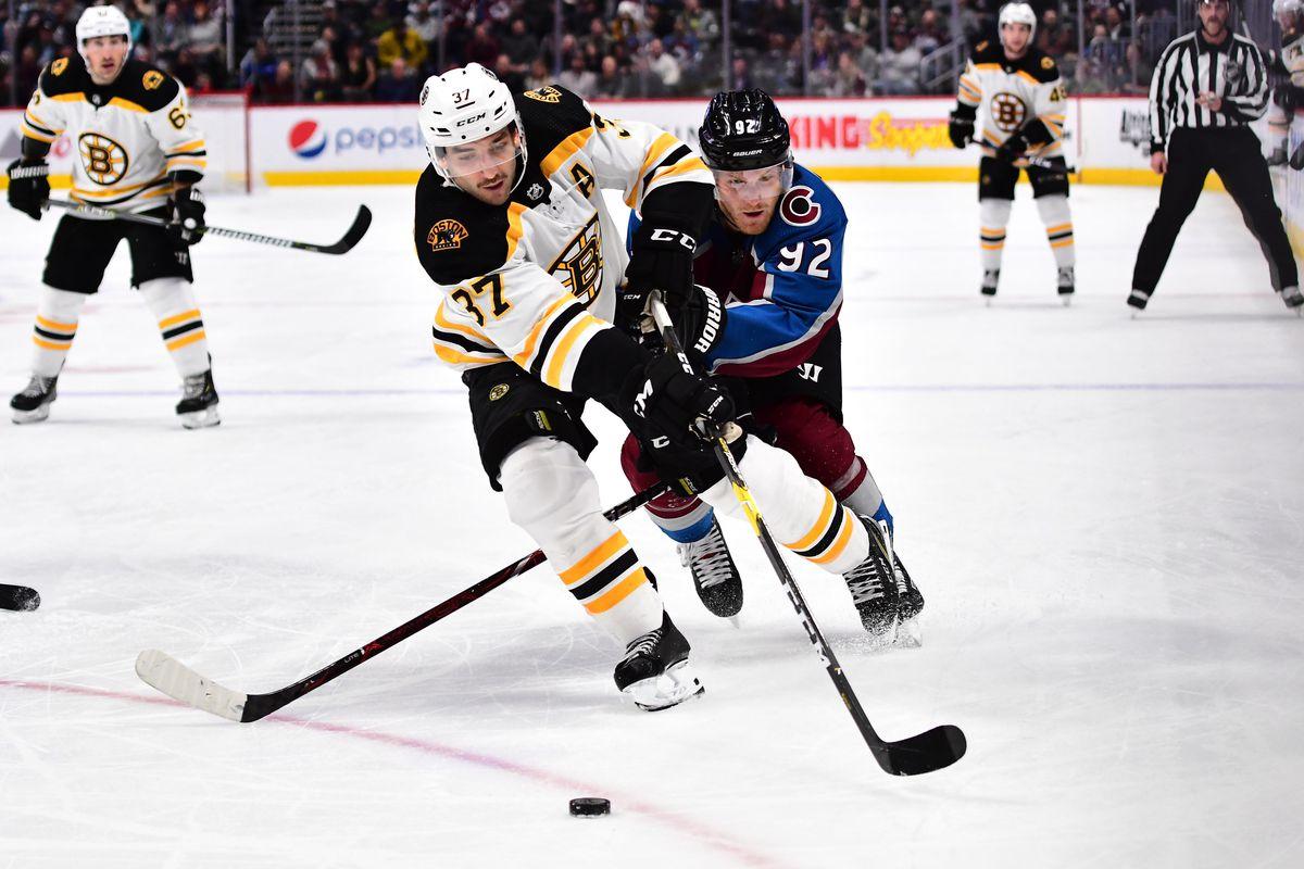 NHL: Boston Bruins at Colorado Avalanche