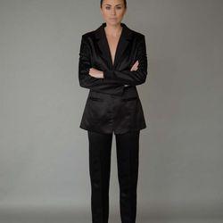 Victoria blazer, $725; Audrey trousers, $495