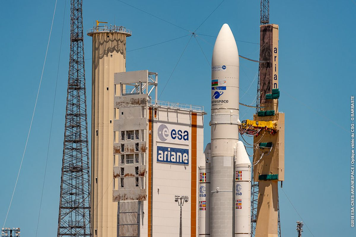Watch Europe S Ariane 5 Rocket Launch On Its 100th Mission To Space