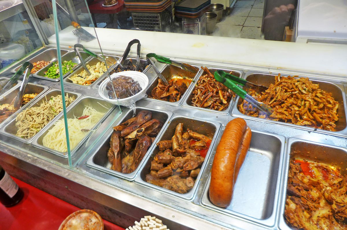 Your selection of cold dishes at Tianjin Dumpling House