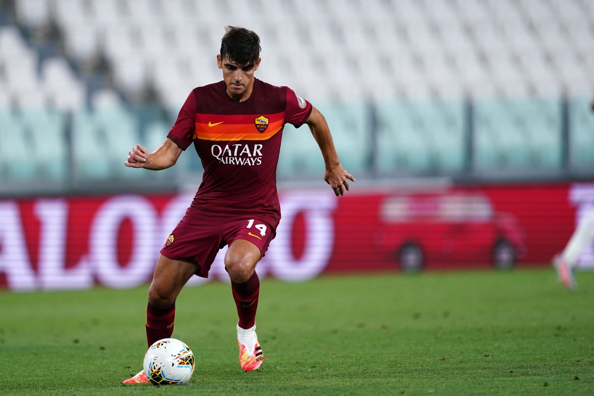 Gonzalo Villar of As Roma in action during the Serie A...