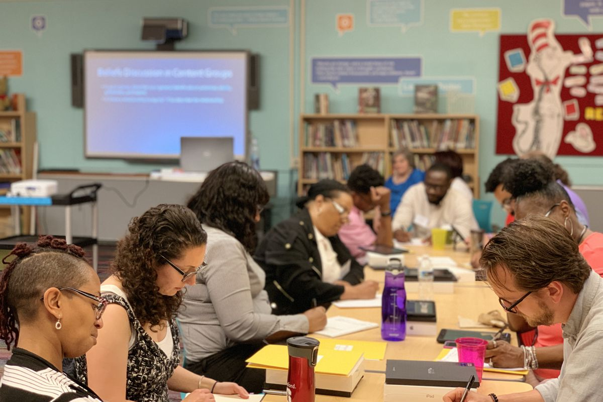 Teachers in the Detroit school district recently participated in a training session on gifted education.
