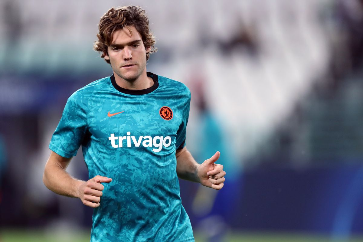 Marcos Alonso of Chelsea Fc during warm up before the Uefa...