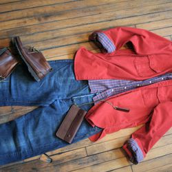 <strong>Trend 3: Orange—for men. </strong> Some days, it can be a struggle getting men to wear anything more colorful than khaki. But with springtime comes sunshine, and what better time for everyone to embrace the brighter end of the color wheel? This lo
