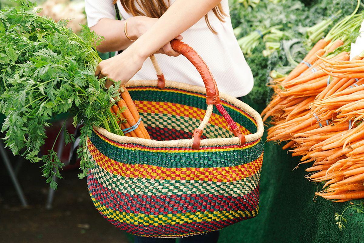 "Bolga Basket, <a href=""http://www.thelittlemarket.com/product-category/baskets/market-baskets/shopping-market-baskets/"" target=""_blank"">$48</a> at The Little Market"