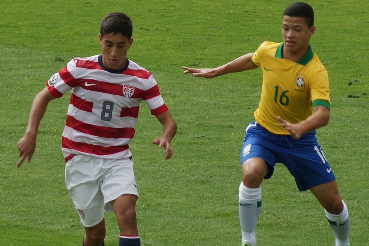 Zendejas with the US youth national side.