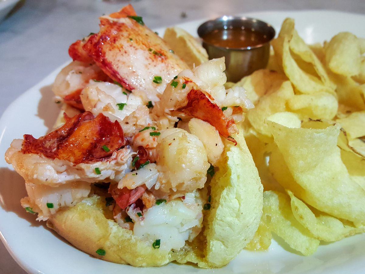 Brown butter lobster roll at North Square Oyster