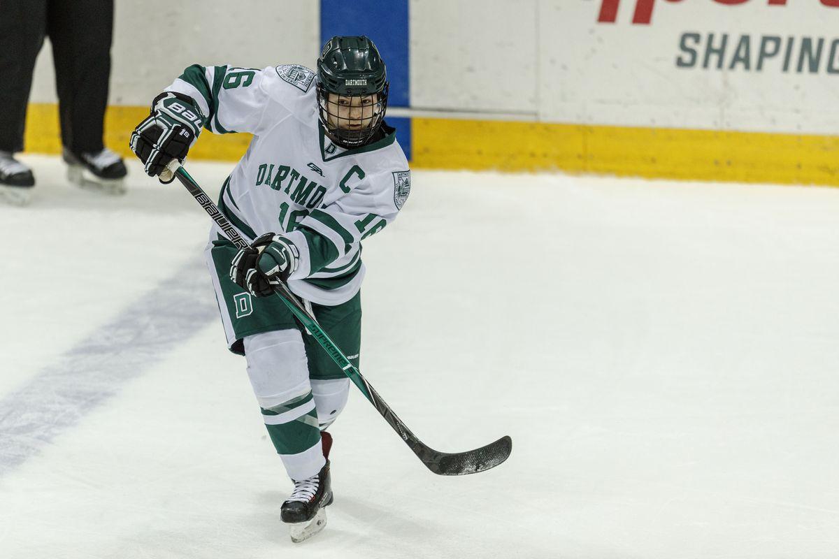 Dartmouth captain Hailey Noronha (#16)