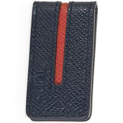 """<strong>Tod's</strong> Money Clip in Navy Leather, <a href=""""http://store.tods.com/Tods/US/categories/Shop-Men/Spring-Summer/Accessories/Wallets/Leather-Money-Clip/p/XAMACHU0300DOU024A"""">$125</a>"""