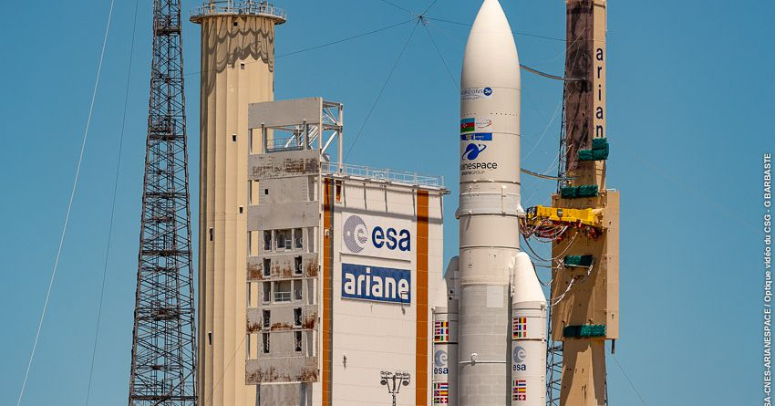 Watch Europe's Ariane 5 rocket launch on its 100th mission to space - The Verge