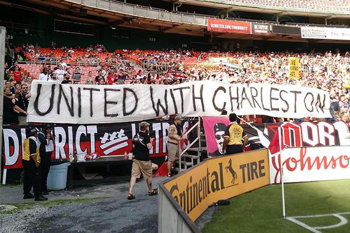DC United shows their support for Charleston