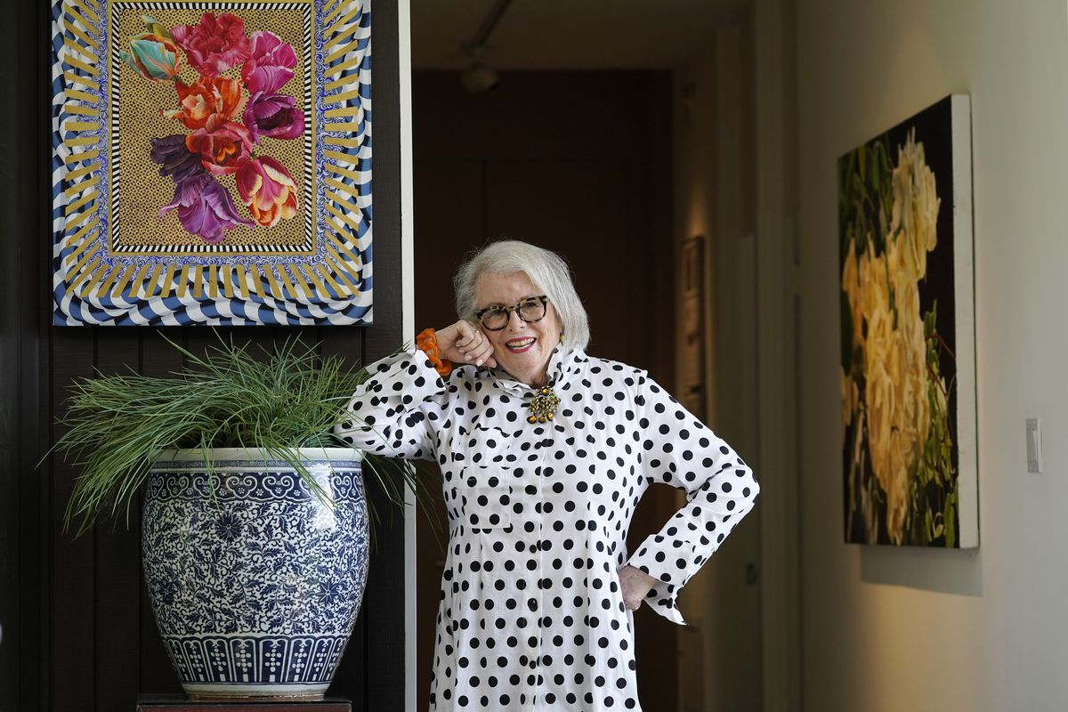 Senior influencer Sandra Sallin, 80, at home in Los Angeles, is among a growing number of seniors making names for themselves on social media.