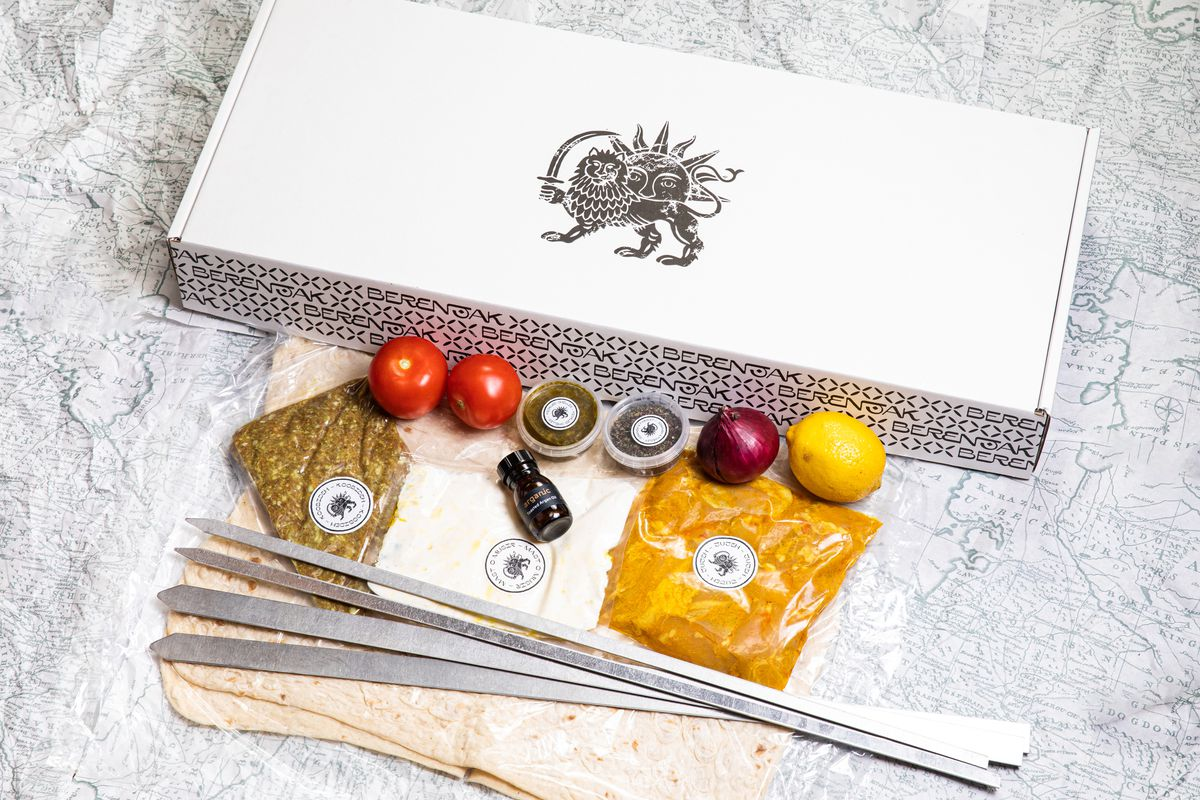 Berenjak's kabab meal kit, one of the first in London to gain traction last summer