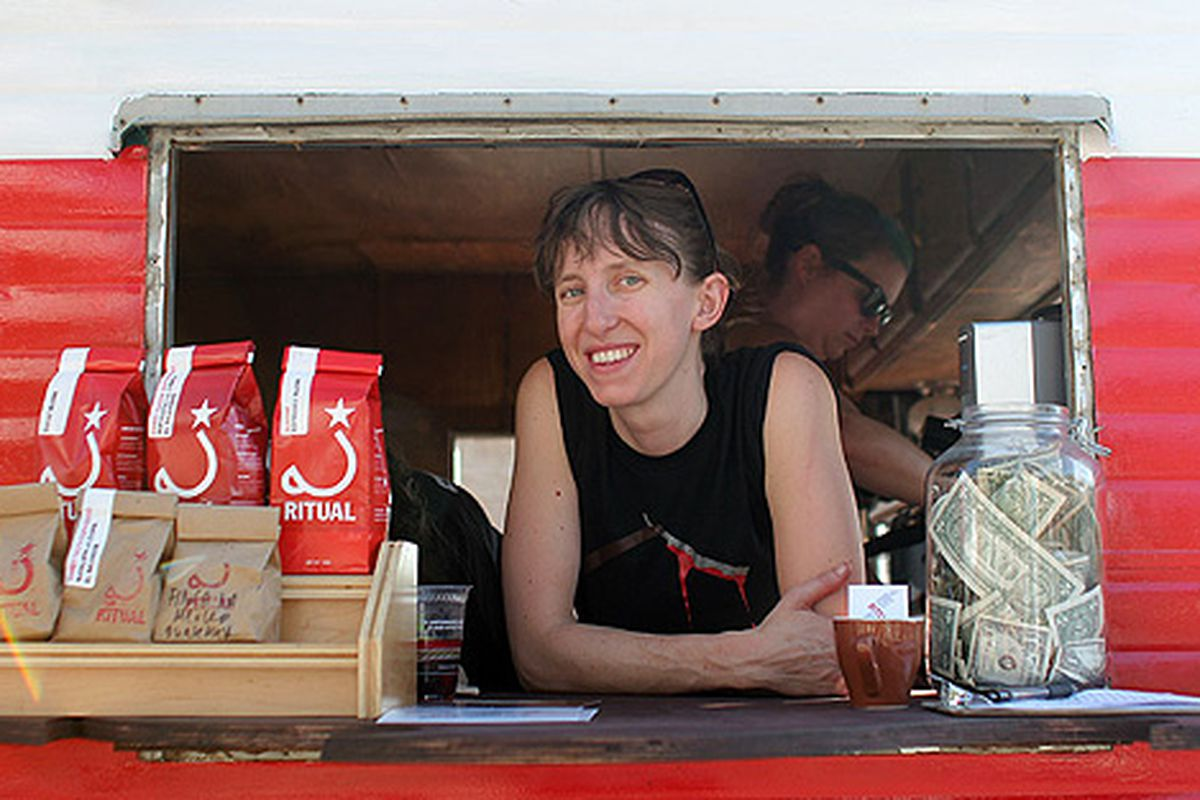 Behold the Ritual Roasters Truck, at Eat Real.