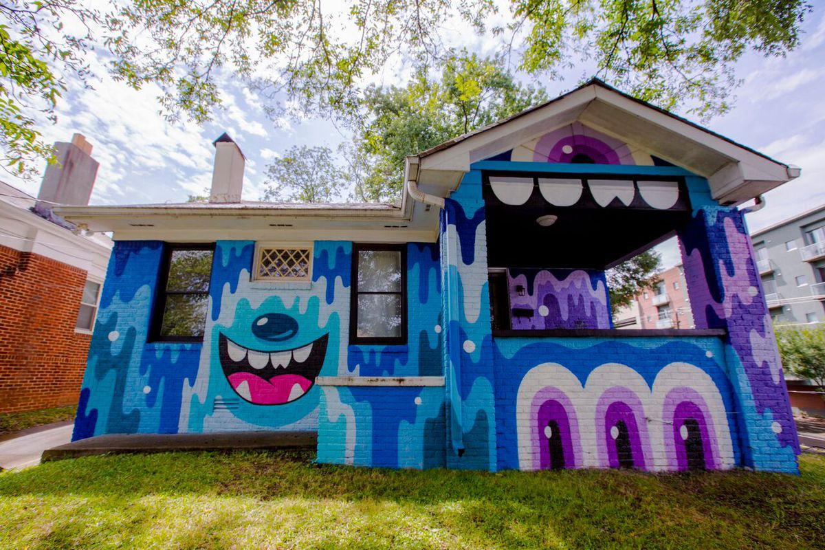 """The LOUDHAUS,"" as seen from Glen Iris Drive in Atlanta's Old Fourth Ward neighborhood."