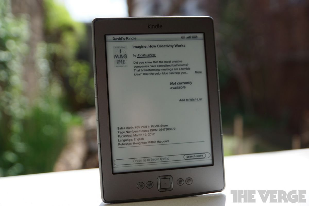 Amazon Kindle Store is down in the US (update: now back to normal