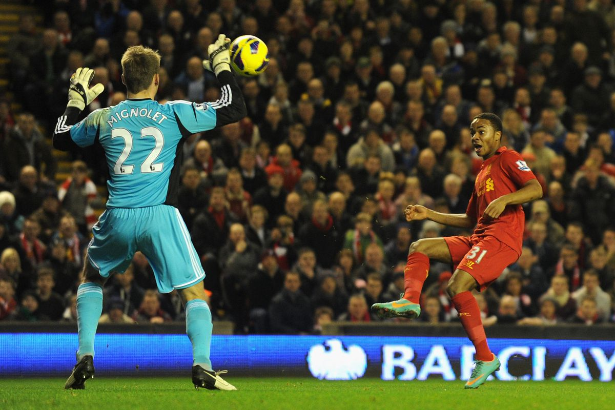 Let's hope Sterling does not score on Mignolet this time.