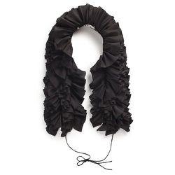 Ruffian Women's Silk Ruffle Scarf (black), $95