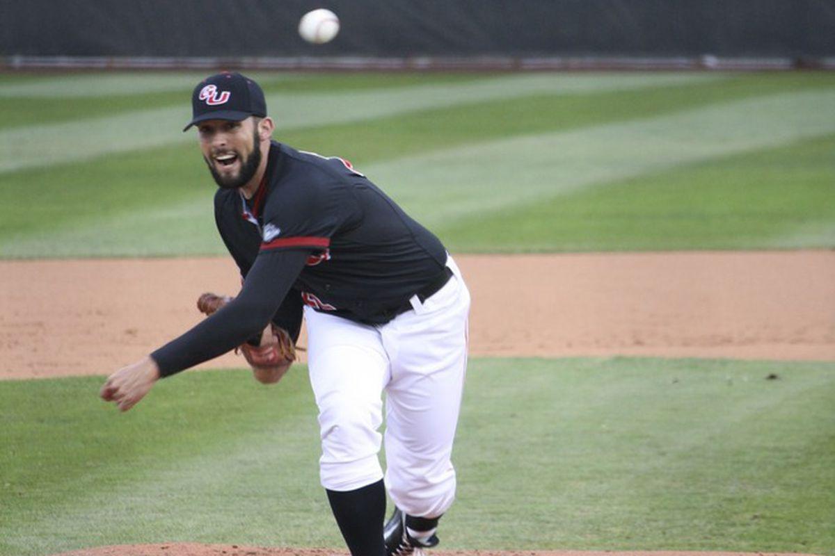 Gonzaga pitcher Ryan Carpenter continues to dominate as the #1 starter. Photo Credit: Karis Tsolomitis.