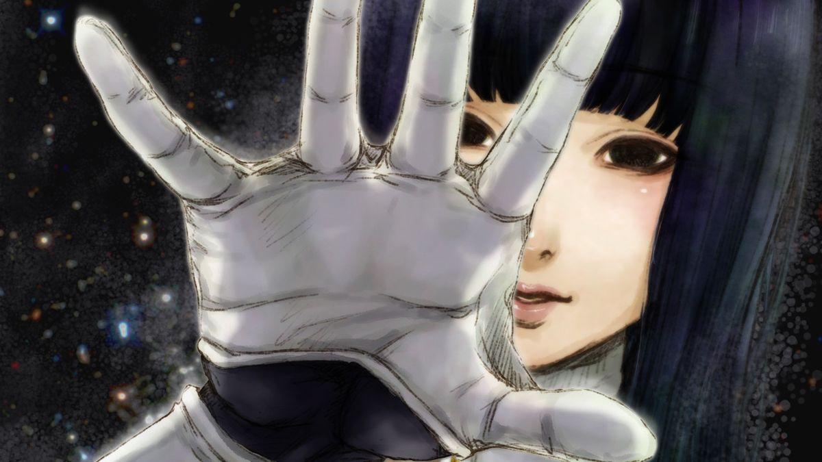 Yuriko reaches towards the camera in Gnosia