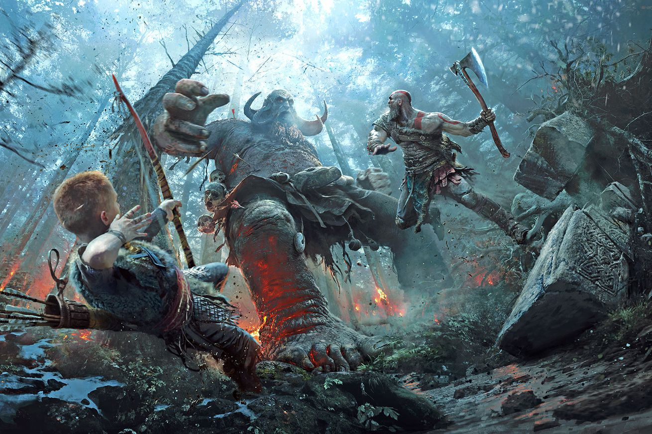 god of war s violent world comes to life in these stunning art prints