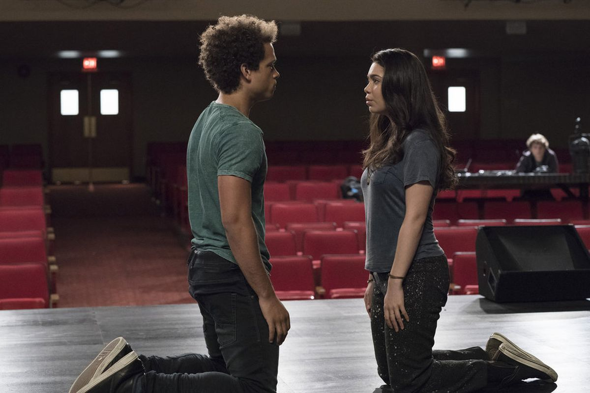 Damon J Gillespie and Auli'i Cravalho in Rise