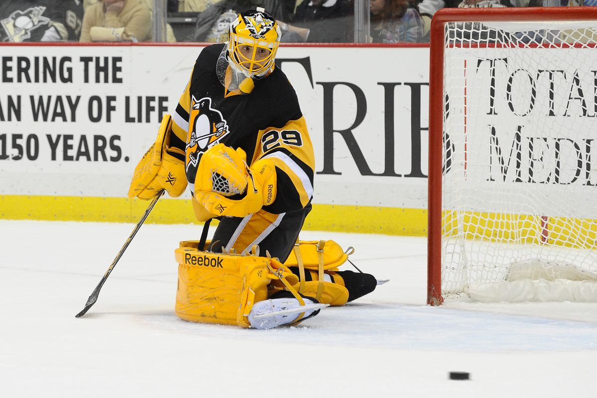 on sale 1f567 eb568 Marc-Andre Fleury needs to bring back the yellow pads ...