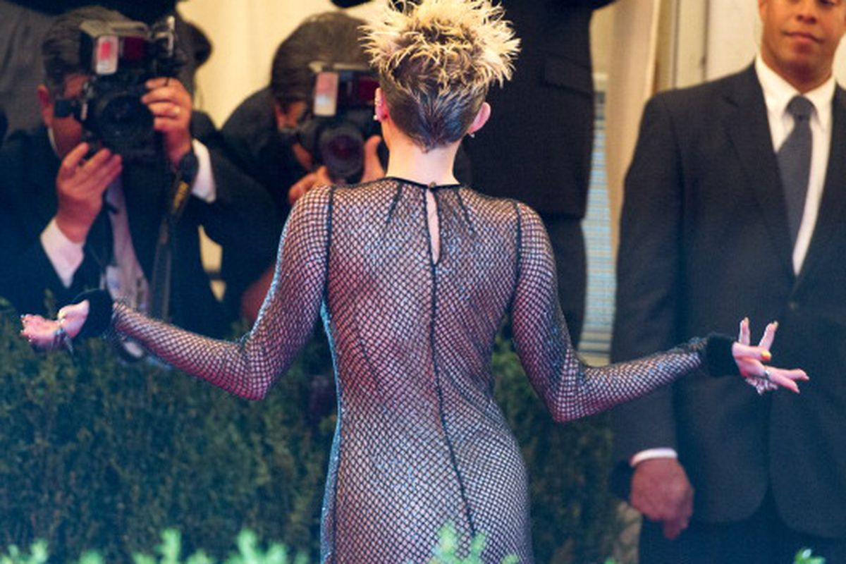 Miley Cyrus at the Met Ball via Getty