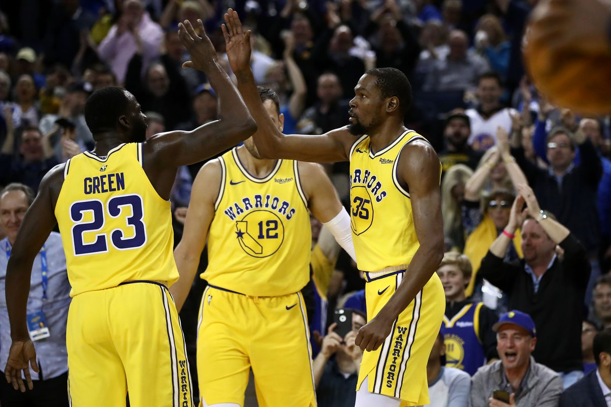 686b07aef3c4 Warriors final score  116 - 102 as they blast the Denver Nuggets out of  Oracle despite Durant ejection