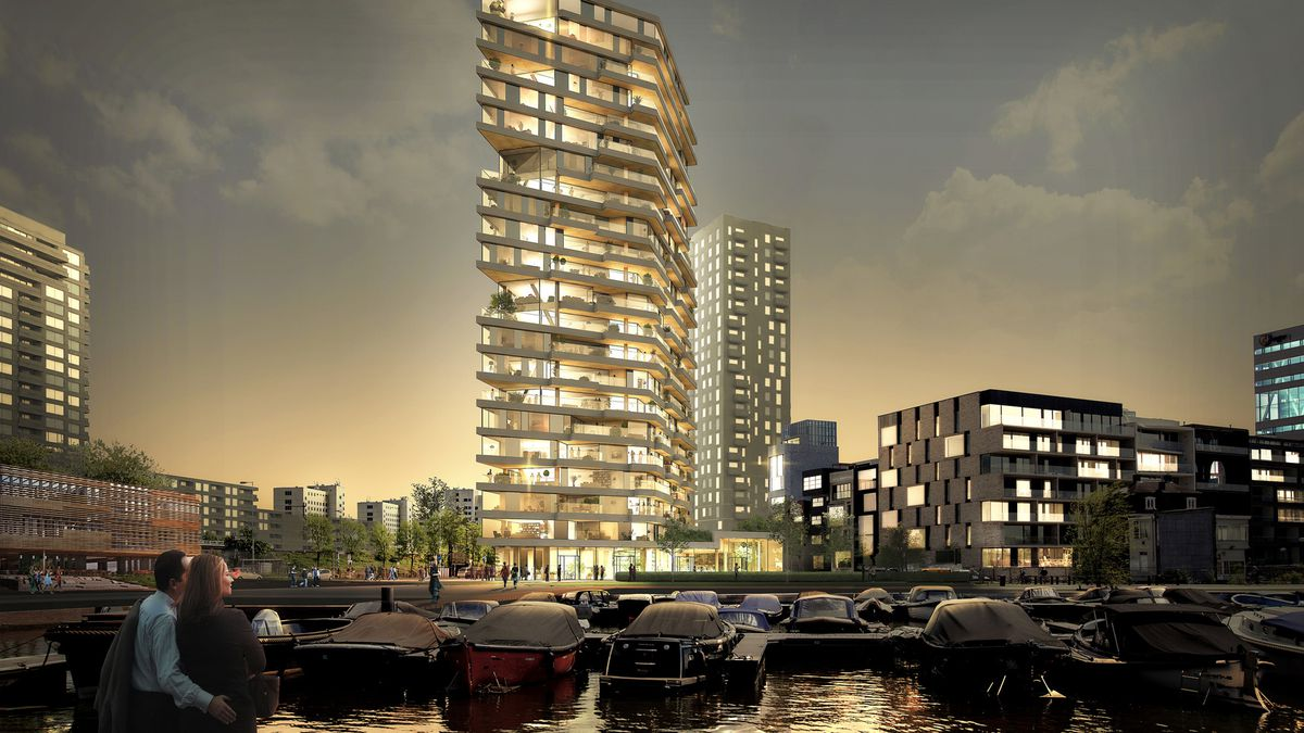 The Haut, the Netherlands' tallest wooden residential building.
