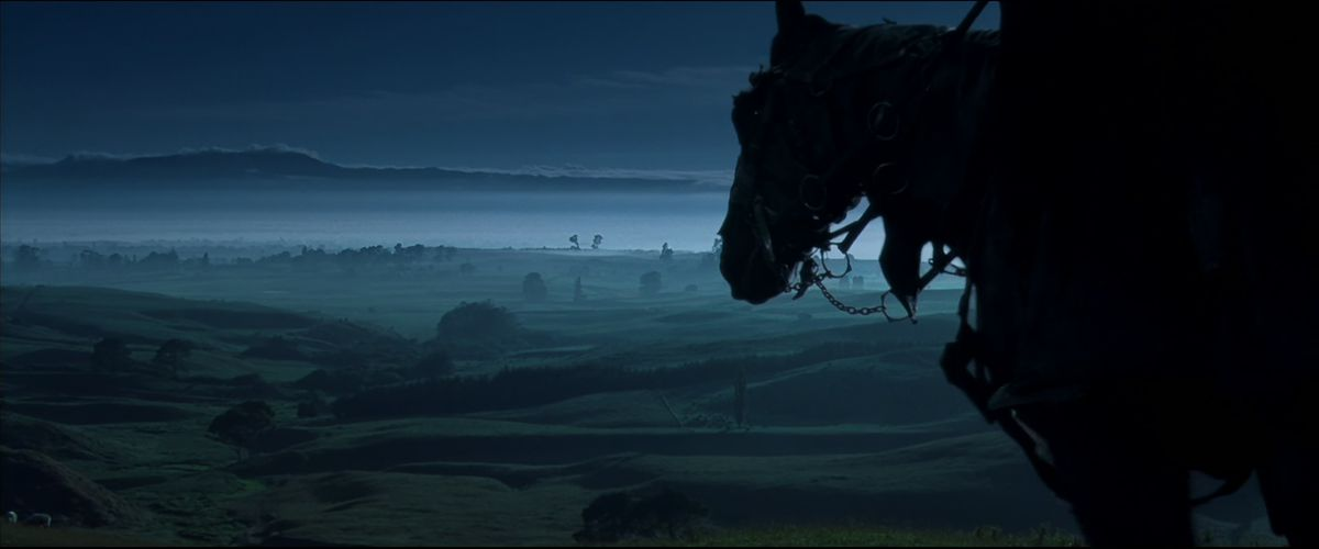 A Black Rider arrives in the Shire in The Fellowship of the Ring.