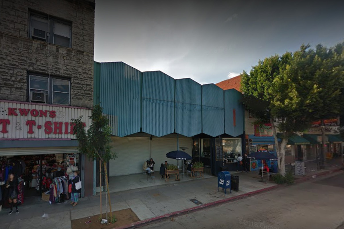 The proposed new restaurant site in Echo Park