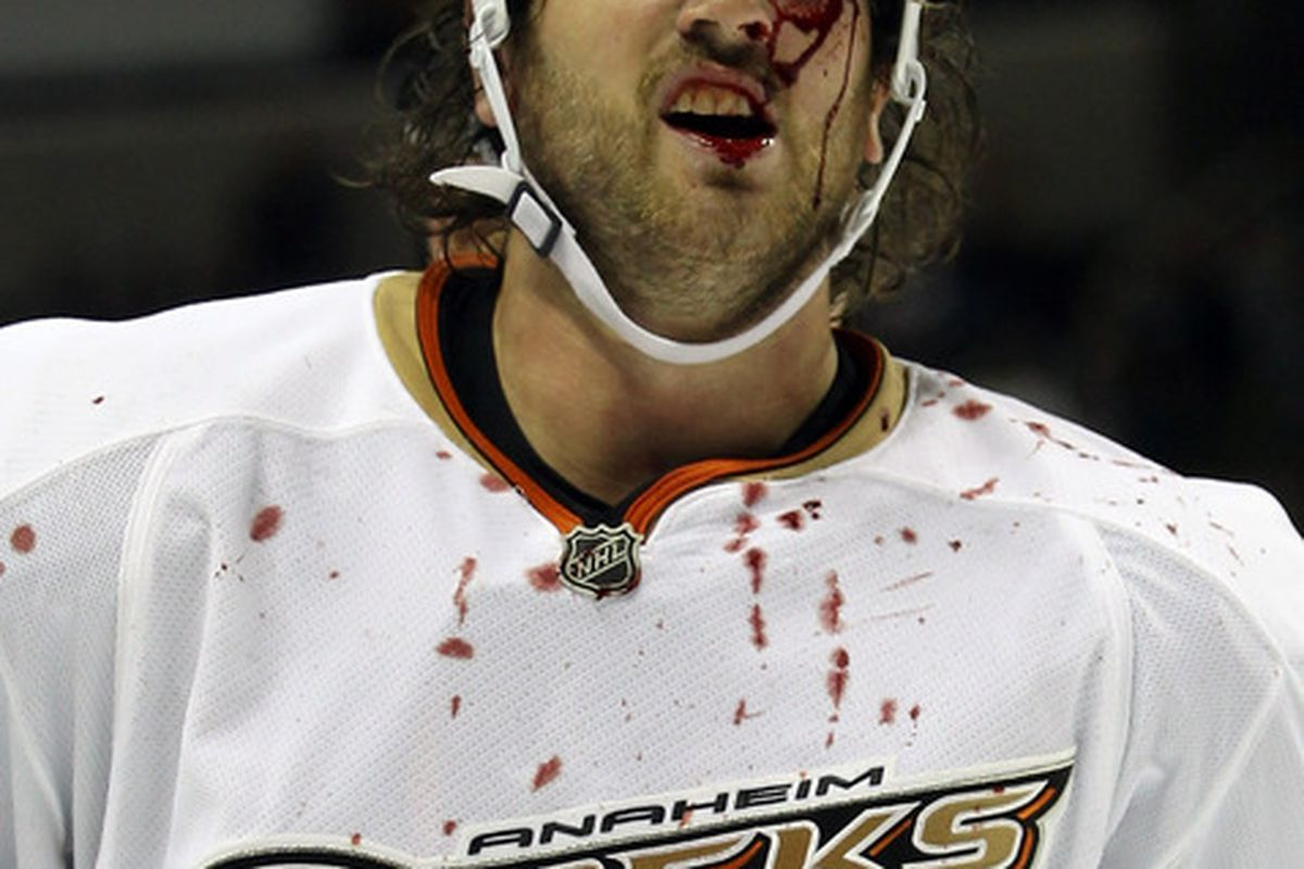 Dear Hockey Gods: I know it's not the chicken we promised, but please humbly accept this sacrifice of Aaron Voros.