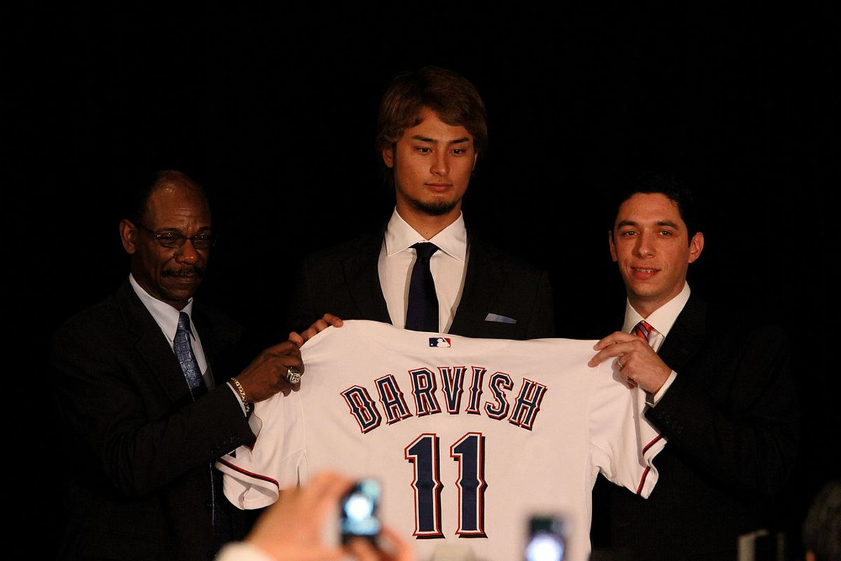 Yu Darvish went 1st overall in my 20-team dynasty league Minor League Draft  (Photo by Ronald Martinez/Getty Images)