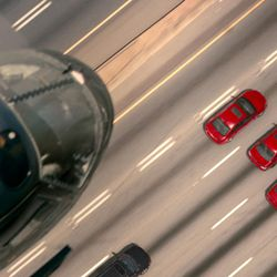 """A car chase from TriStar Pictures' """"Baby Driver."""""""