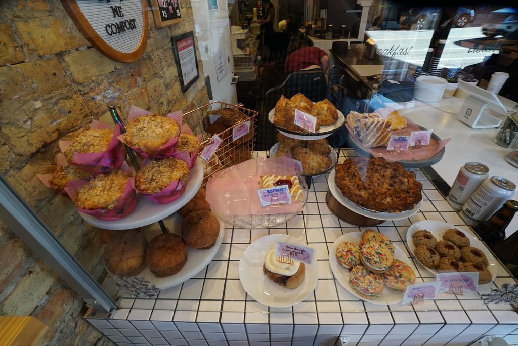 The pastry display at Baker Miller.