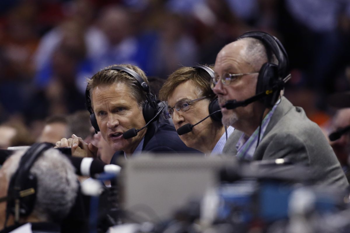 Steve Kerr and Marv Albert listened to our recording. They made these faces.