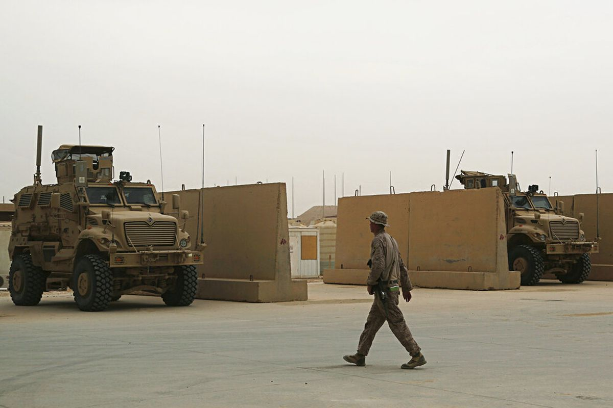 U.S. Marines are stationed in Ain al-Asad air base in Iraq.