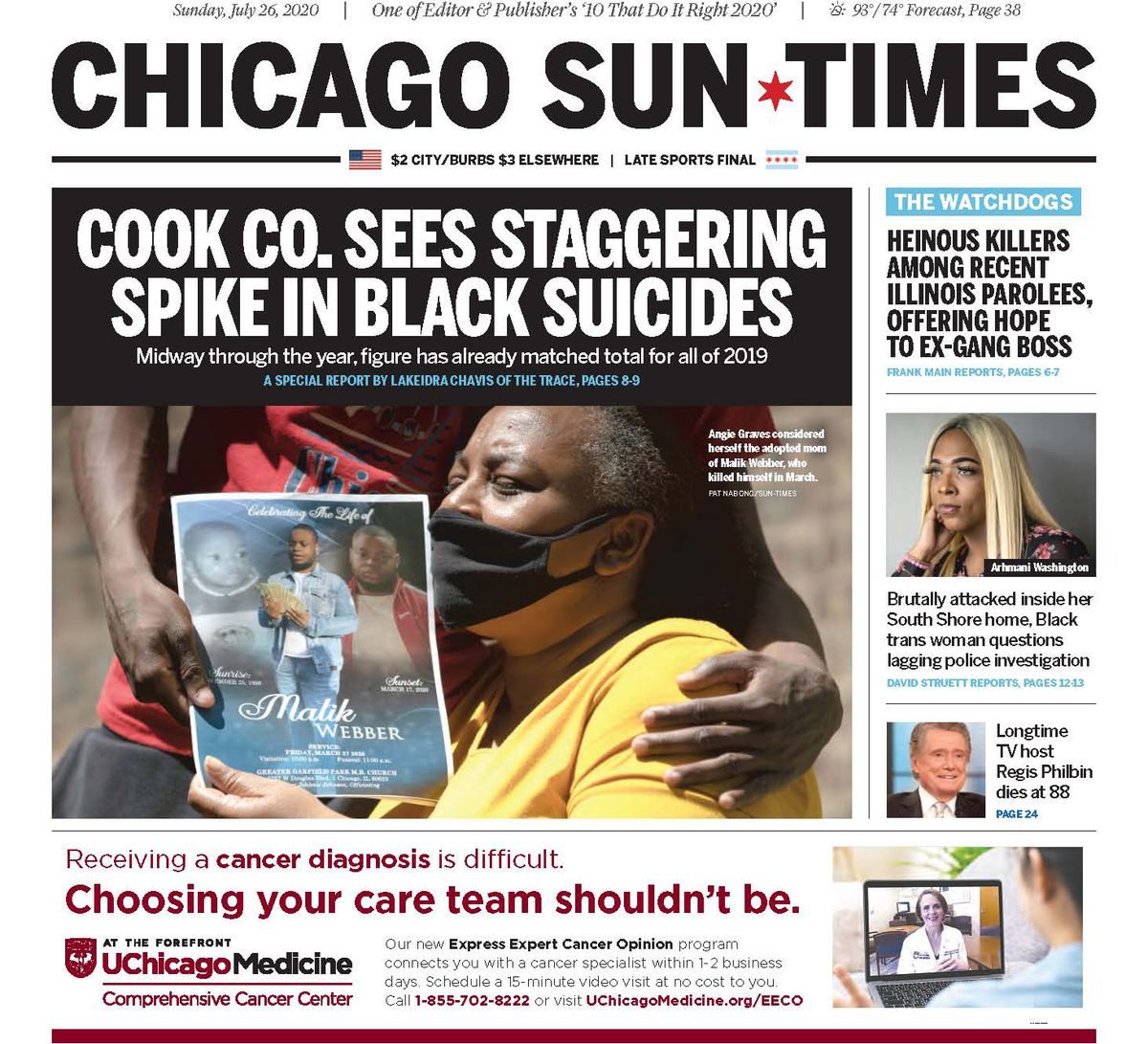 Click to read the July 26, 2020, report from The Trace and the Sun-Times.
