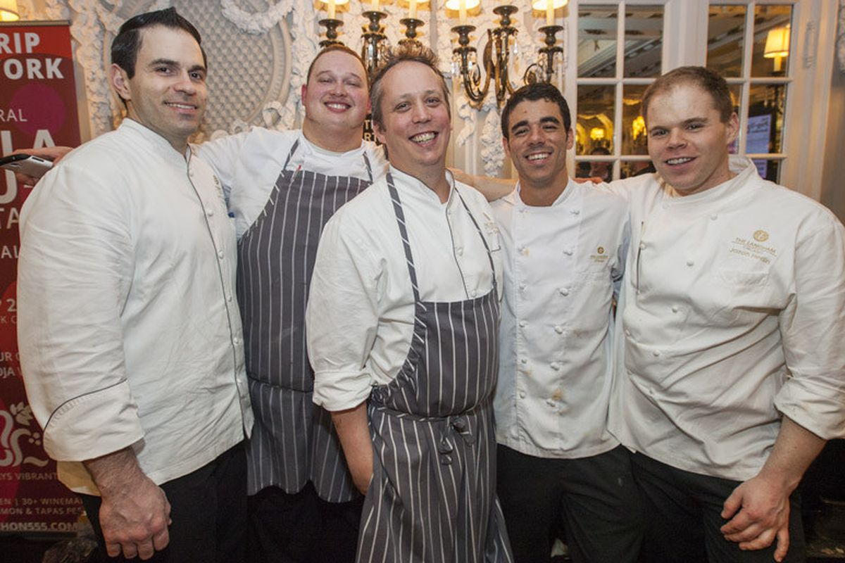 Tim Graham (center) and his Travelle team at Cochon 555, 2014