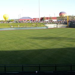 Another view of right field and the party area in the park