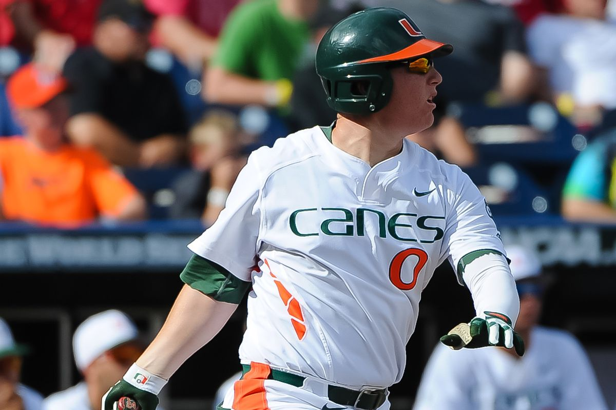 Where does Miami's Zack Collins, one of the top bats in the draft, come in on this year's list?