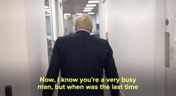 Boris Johnson is asked on Twitter when he last cooked