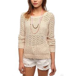 """<b>Urban Outfitters</b> Staring at Stars Marled Mix Stitch Sweater, <a href=""""http://www.urbanoutfitters.com/urban/catalog/productdetail.jsp?id=24665432&parentid=W_APP_SWEATERS>$59</a>"""