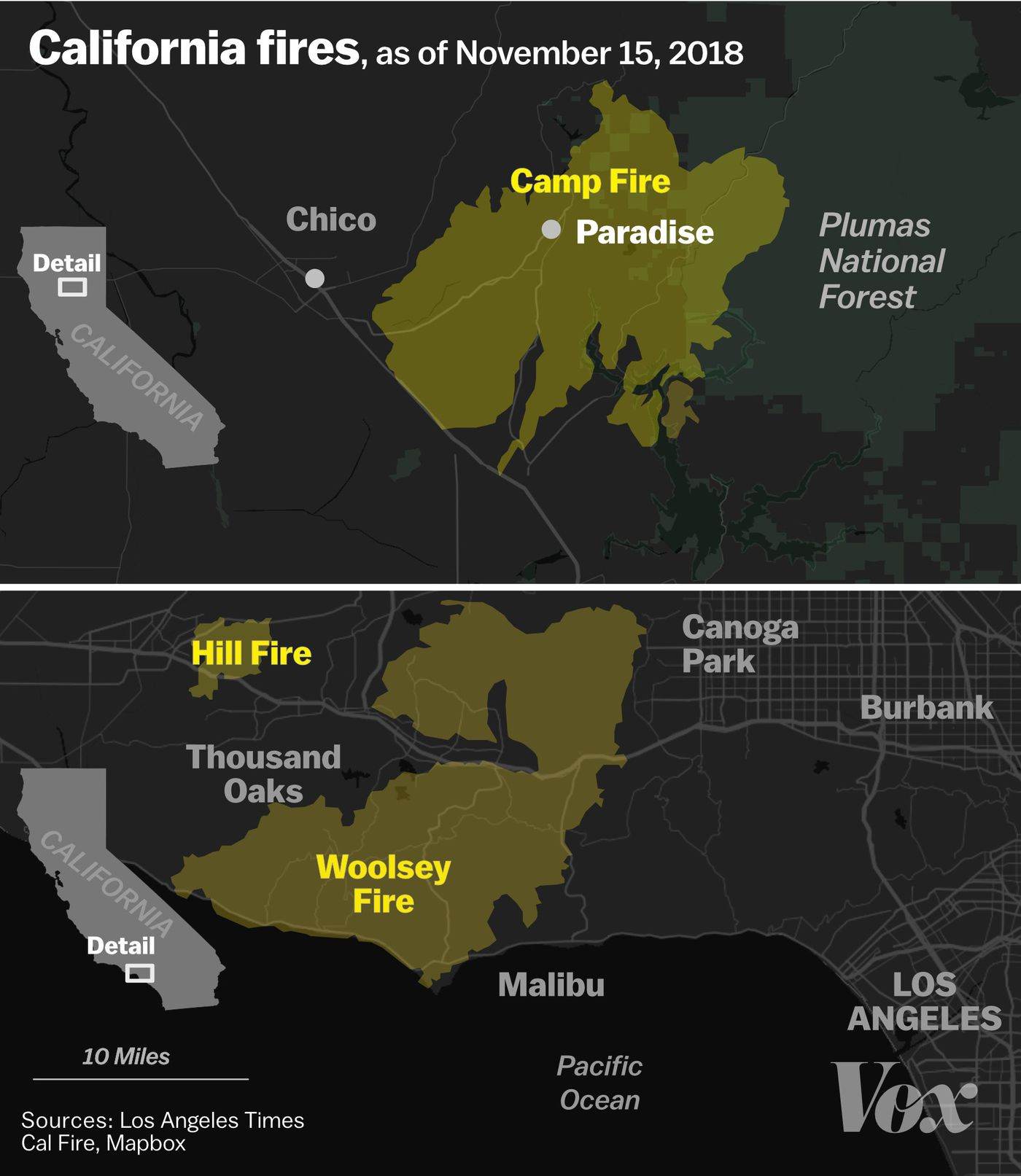 Hill Fire California Map.California Wildfires 2018 How Fire Worsens The State S Income
